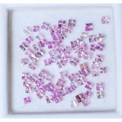 40pcs pink sapphire 1.9ct