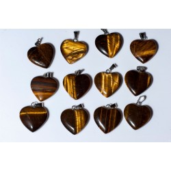 Tiger eye heart pendant...